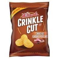 Willards Crinkle Cut Smoked Beef Chips - 125g