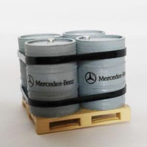 Iconic Replicas   Oil drum set Pallet Mercedes Benz