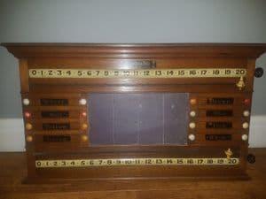 Burroughs & Watts life billiard score board