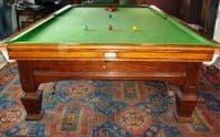 E -J Riley Solid Oak Full Size Snooker Table (SOLD)