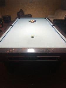 Sam K Steel 9ft American Pool Table (used)