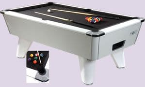 Supreme Winner White English Pool Table (freeplay 6 or 7f/t Available