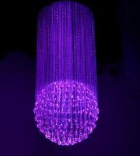 Fibre Optic chandelier - METEOR