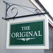 Large Original Iron Bracket Sign