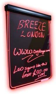 Neon Writer Notice and Menu Board