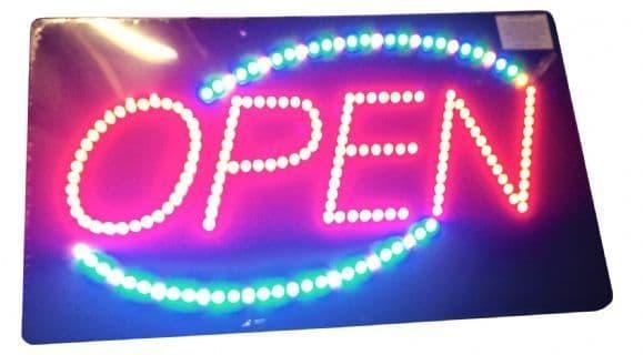 Open LED  - Multi Coloured Border.
