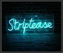 Striptease Neon Sign