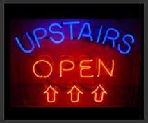 Upstairs Open Neon Sign (NEON6)