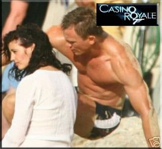 Black and white swim trunks as worn by Daniel Craig in Casino Royale