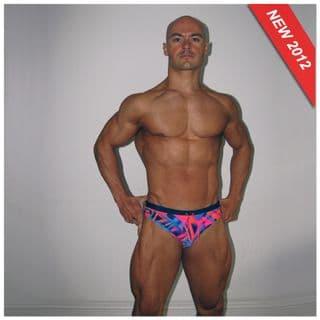 Pink Patterned Swim Brief | Mens Pink Speedo