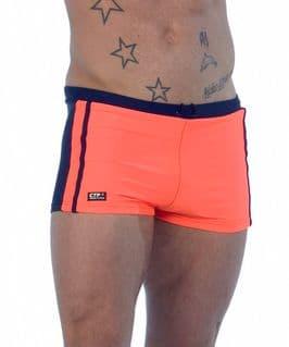 Mens Swimming Trunks - Blue & Orange - Mens Trunks
