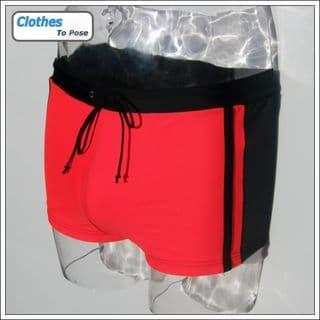 Red Swim Trunks for Men