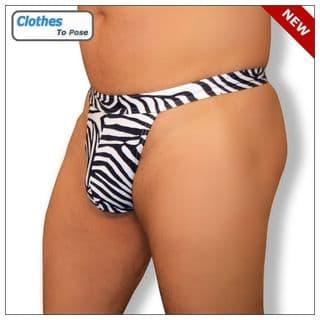 Zebra Mens Swim G String