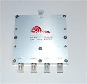 PD-4G-4WAY-SF - 700-2700 MHz 4-Way Power Splitter SMA-Female
