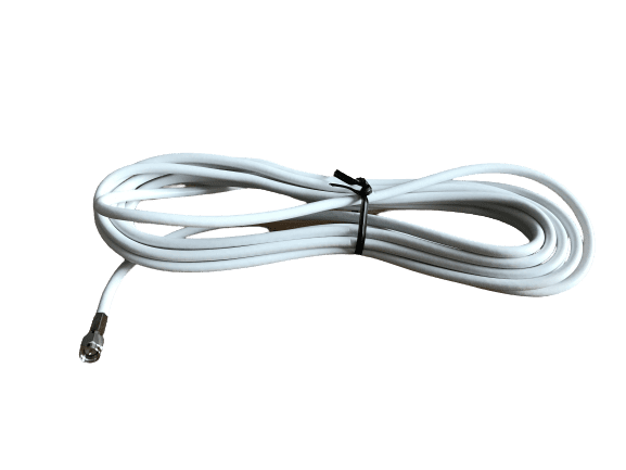 WRF100-SF-SM-4.5M - 4.5M RF100 white low loss cable SMA-Female / SMA-Male