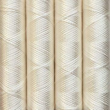 001 White - Pure Silk - Embroidery Thread