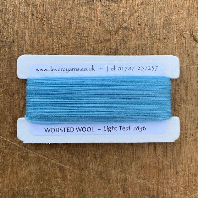 2836 Light Teal - Worsted Wool - Embroidery Thread