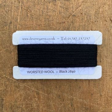 2840 Black - Worsted Wool - Embroidery Thread