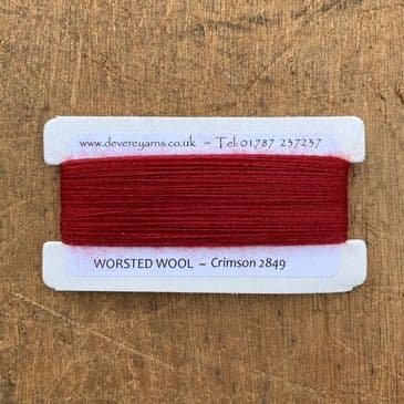 2849 Crimson - Worsted Wool - Embroidery Thread