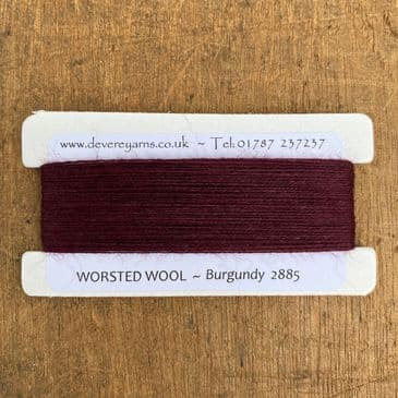 2885 Burgundy  - Worsted Wool - Embroidery Thread