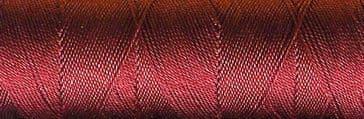 Silk Button Hole Thread - Berry Red