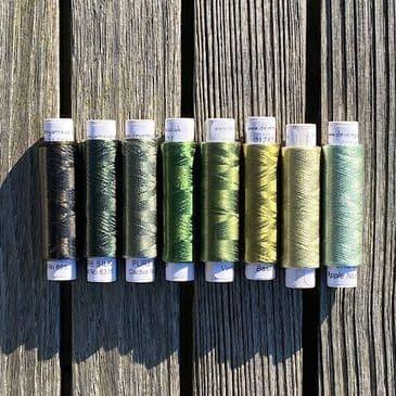 Silk shade card - Row 12