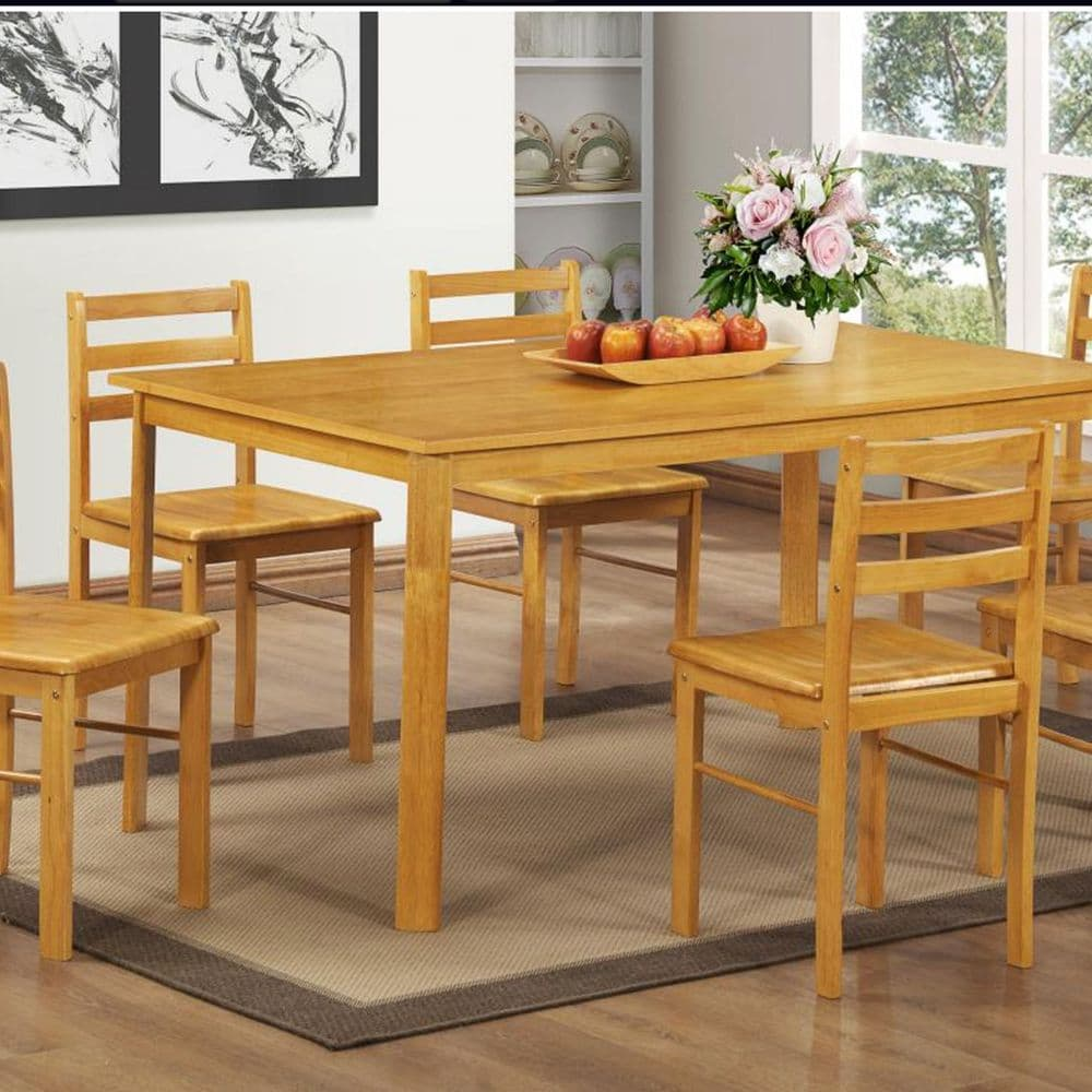 Large  Dining Set Table Plus 6 Chairs