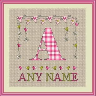 Girls Bunting Monogram