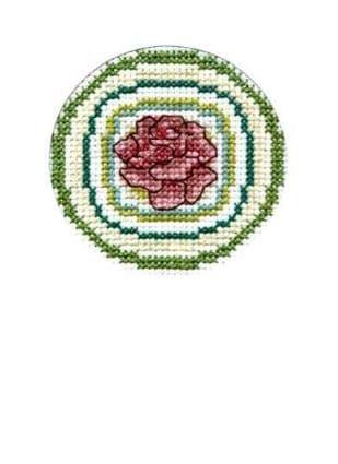 Green Rose Circle CA150223