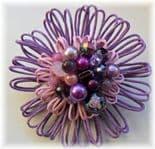 Lilac Bouquet Hue Embellished Flower Brooch
