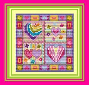 Patchwork Hearts  - Ref No. P150233
