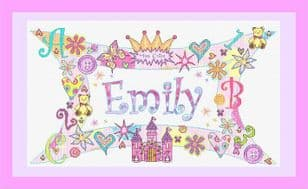 Personalised Little Girl Name Plate  - P150236