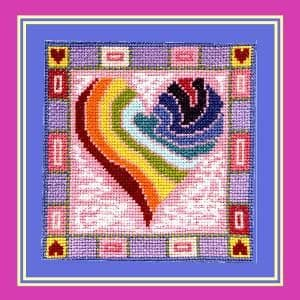 Rainbow Heart - P150222