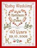 Ruby Wedding Anniversary Sampler - P150250