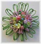 Spring Bouquet Hue Embellished Flower Brooch