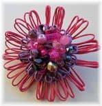 Winter Berries Hue Embellished Flower Brooch