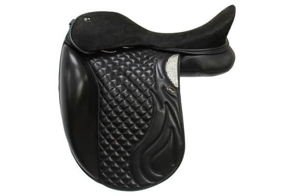 """17"""" Dressage Saddle In Black With Dressage Designer Flaps"""