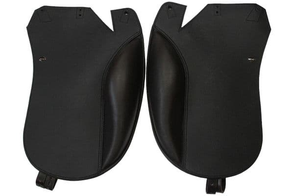 Dressage Giant Fixed Block Angled Back  Flaps In Brown  And Black Butt Memal Print Flap 32