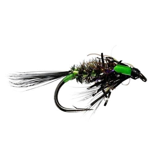 DIAWL BACH UV BLACK/GREEN UNWEIGHTED NYMPH - CALEDONIA