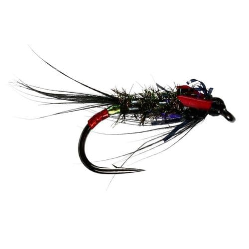 DIAWL BACH UV BLACK/RED UNWEIGHTED NYMPH - CALEDONIA