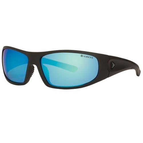 Greys G1 Polarised Sunglasses Matt Carbon Frame, Blue Mirror Lens