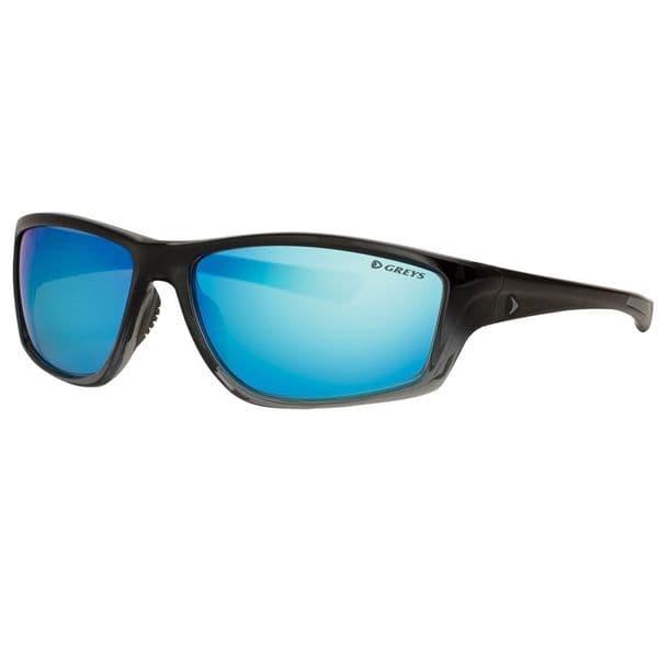 Greys G3 Polarised Sunglasses Gloss Black Frame, Blue Mirror Lens