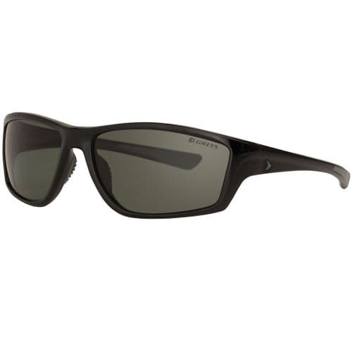Greys G3 Polarised Sunglasses Gloss Black Frame, Green/Grey Lens