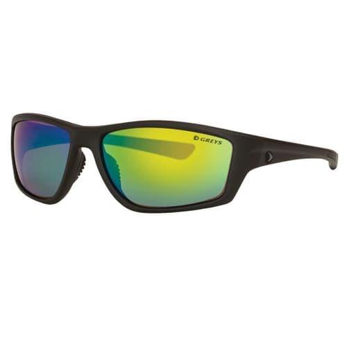 Greys G3 Polarised Sunglasses Matt Carbon Frame, Green Mirror Lens