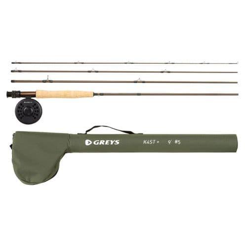 Greys K4ST+ Fly Fishing Combo / Kit | Rod, Reel, Line, Backing, Tube
