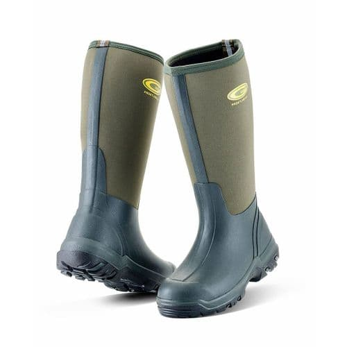 Grubs Frostline 5.0 Neoprene Wellies Green