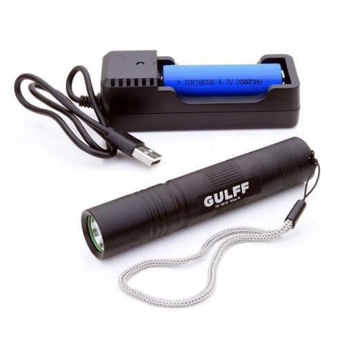 Gulff Pro UV Torch 365nm Rechargeable