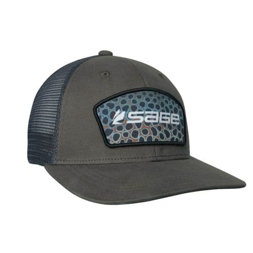 Sage Trucker Cap Brown Trout Patch