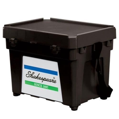 Shakespeare Seat Box - Black Incl Strap & Tray