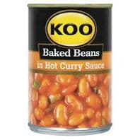 Koo Baked Beans in Hot Curry Sauce - 410g